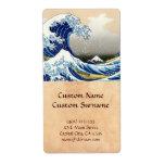 The big wave off Kanagawa Katsushika Hokusai Shipping Label