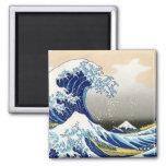 The big wave off Kanagawa Katsushika Hokusai Fridge Magnets