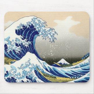 The big wave off Kanagawa Katsushika Hokusai Mouse Pads