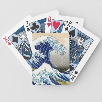 The big wave off Kanagawa Katsushika Hokusai Deck Of Cards