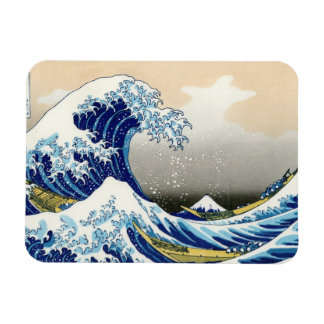 The big wave off Kanagawa Katsushika Hokusai Rectangular Magnets