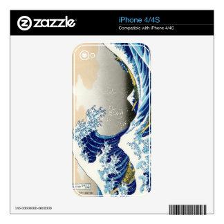 The big wave off Kanagawa Katsushika Hokusai iPhone 4 Decals