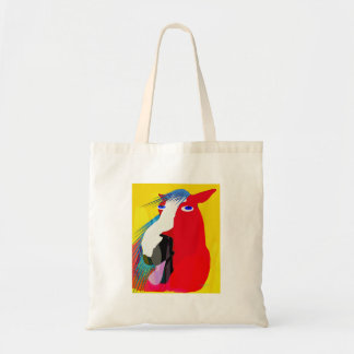 The Big Yawn-Whimsical Horse Collection Canvas Bag