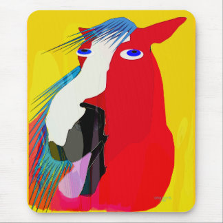 The Big Yawn-Whimsical Horse Collection Mouse Pad