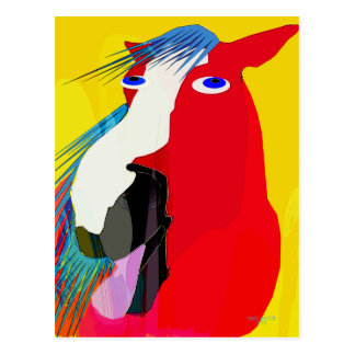 The Big Yawn-Whimsical Horse Collection Postcard
