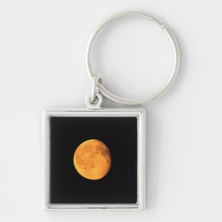 The Big Yellow Moon; No Text Keychain