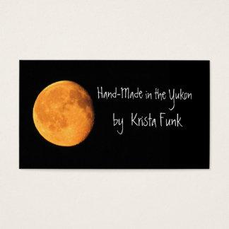 The Big Yellow Moon; Yukon Territory, Canada Business Card