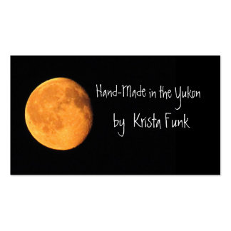 The Big Yellow Moon; Yukon Territory, Canada Double-Sided Standard Business Cards (Pack Of 100)