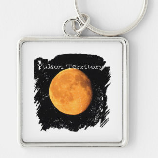 The Big Yellow Moon; Yukon Territory Souvenir Keychain