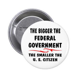 The Bigger Fed Gov The Smaller The US Citizen 2 Inch Round Button