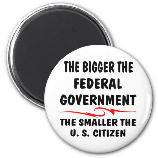 The Bigger Fed Gov The Smaller The US Citizen Magnet