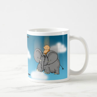 The bigger they are the harder they fall classic white coffee mug