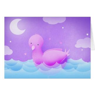 The biggest bird bath card