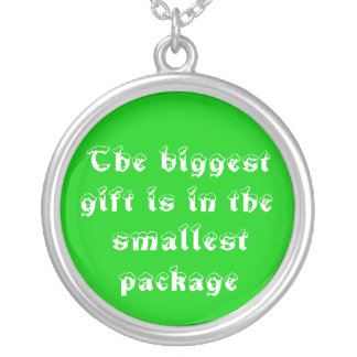 The biggest gift-necklace round pendant necklace