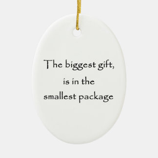 The biggest gift-oval ornament