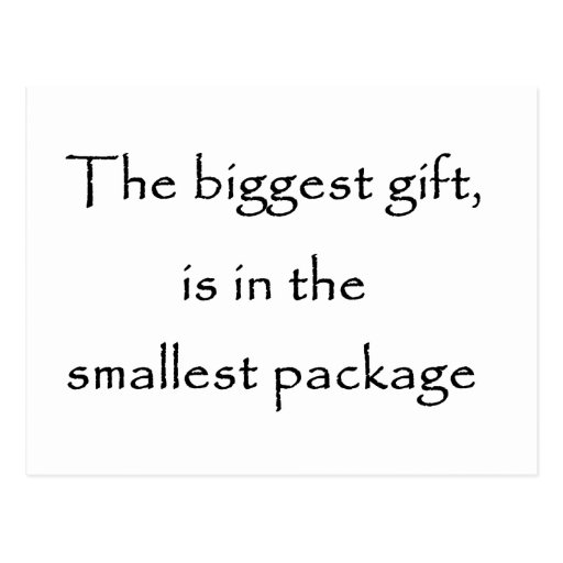 The biggest gift -postcard