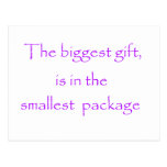 The biggest gift -postcard postcard