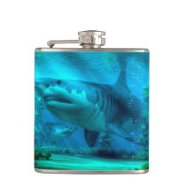 The Biggest Shark Hip Flask