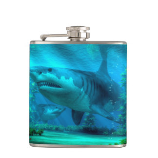 The Biggest Shark Hip Flask