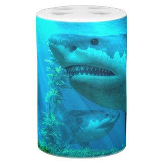 The Biggest Shark Soap Dispenser & Toothbrush Holder