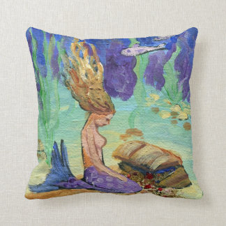 The Biggest Wave of Your Life Treasure Mermaid Pillow