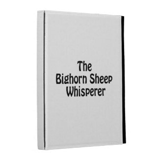 the bighorn sheep whisperer iPad cases