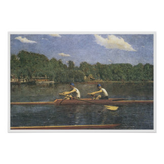 The Biglin Brothers Racing, 1873 Thomas Eakins Poster