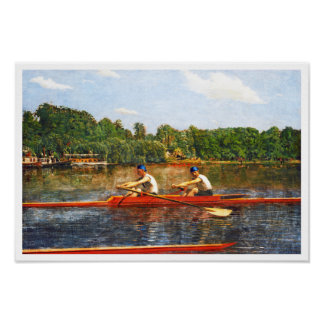 The Biglin Brothers Racing by Thomas Eakins Poster