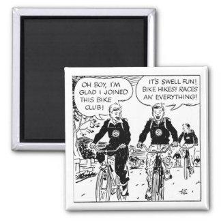 the bike club 2 inch square magnet