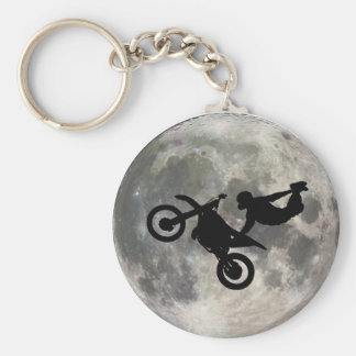 The Bike Jumped Over The Moon Key Chain