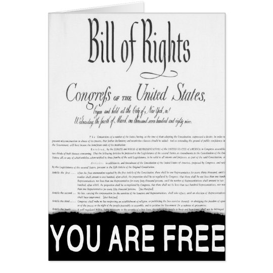 The Bill of Rights Card