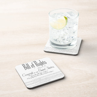 The Bill of Rights Beverage Coasters