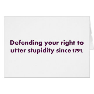 The Bill of Rights is an important document Greeting Card