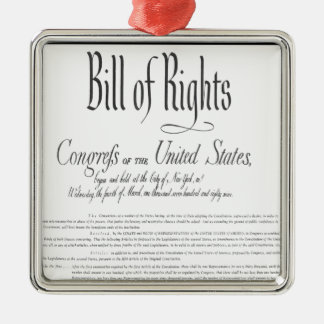 The Bill of Rights Metal Ornament