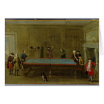 The Billiard Room (oil on canvas) Greeting Cards
