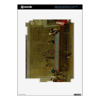 The Billiard Room (oil on canvas) iPad 3 Decal