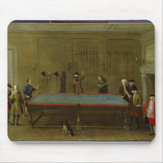 The Billiard Room (oil on canvas) Mouse Pad