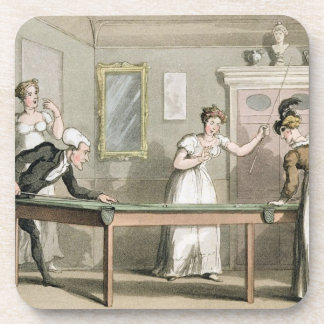 The Billiard Table, from 'The Tour of Dr Syntax in Beverage Coaster