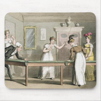 The Billiard Table, from 'The Tour of Dr Syntax in Mouse Pad