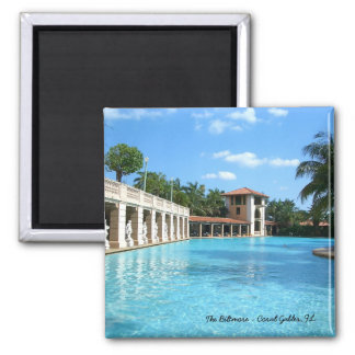 The Biltmore Hotel Swimming Pool - Coral Gables FL 2 Inch Square Magnet