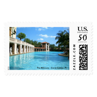 The Biltmore Hotel Swimming Pool - Coral Gables FL Postage