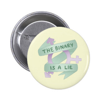 THE BINARY IS A BINDS PINBACK BUTTON