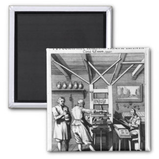 The bindery of Laurens Janszoon Koster Fridge Magnets
