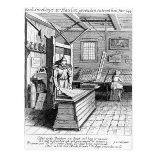 The Bindery of Laurens Janszoon Koster Postcard
