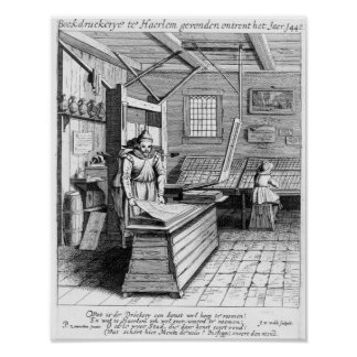 The Bindery of Laurens Janszoon Koster Poster