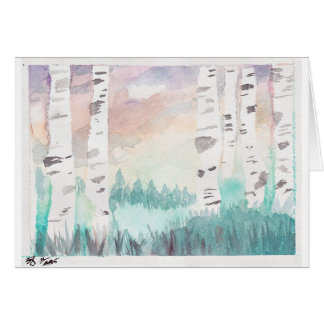 THE BIRCH TREES CARD
