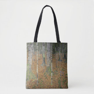 The Birch Wood by Gustav Klimt Tote Bag