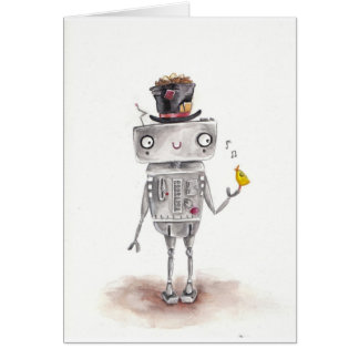 The Bird and the Robot Greeting Card