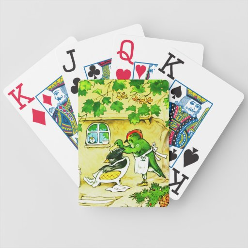 The Bird Barber Bicycle Playing Cards
