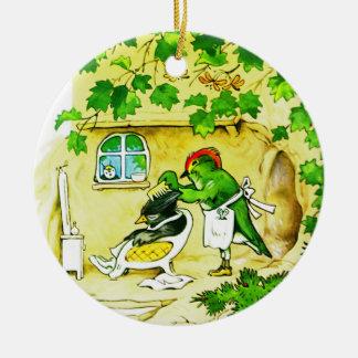 The Bird Barber Ceramic Ornament